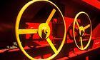 Ein Schüttgutwagen der Bauart Tanoos 896 für Kali-/Düngemitteltransporte - im Bild Handräder